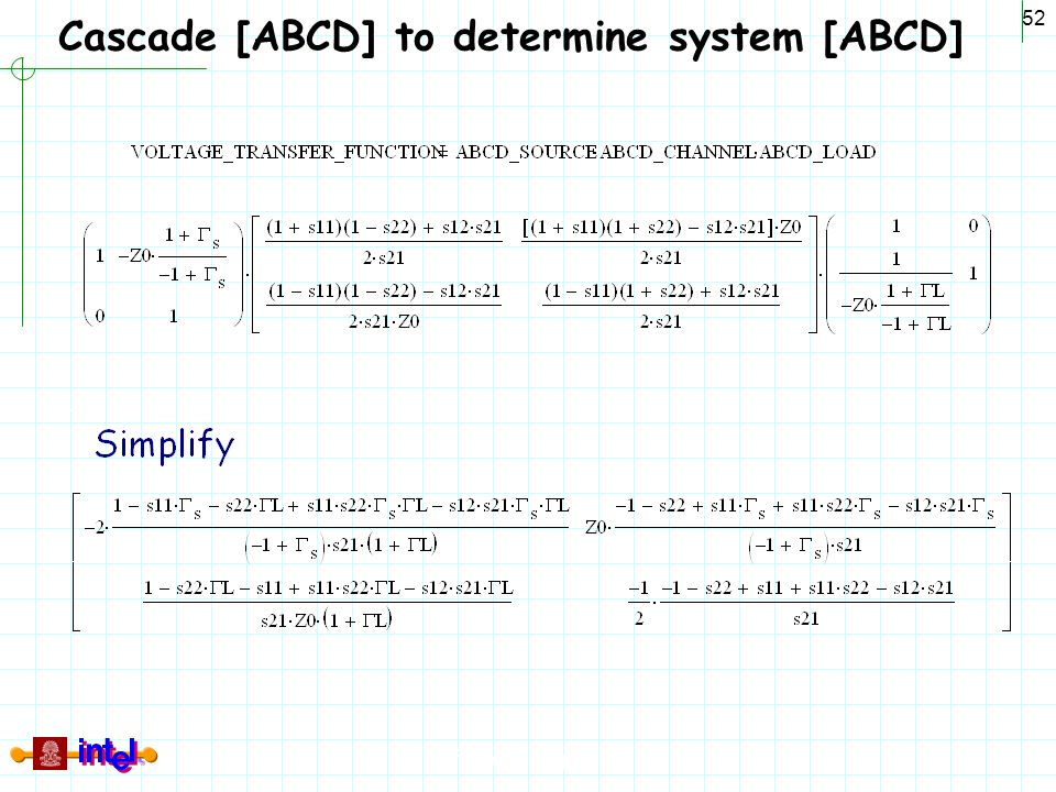 Cascade [ABCD] to determine system [ABCD]